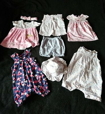 summer baby girl clothes bundle 6-9 months