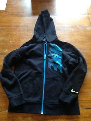Boys Nike Full Zip Hoodie. Black and blue. Size Large. EUC.