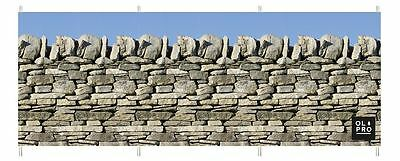 Beach Windbreak Compact Perfect for Camping (4 STEEL POLES) - STONE WALL DESIGN