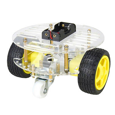 2WD Car Chassis Tracing Car Box Kit Speed Encoder Spare Part Durable 15cm