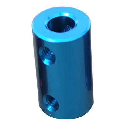 6.35-10mm Rigid Flexible Shaft Coupler Motor Connector Aluminum Alloy Aqua