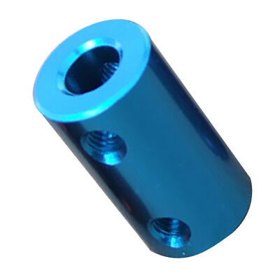 6.35-6.35mm Rigid Flexible Shaft Coupler Motor Connector Aluminum Alloy Aqua
