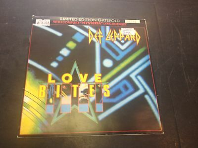 "Def Leppard - Love Bites 7"" Limited Edition Gatefold With Hysteria Lyric Booklet"