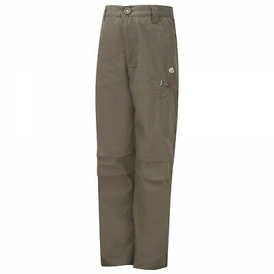 CRAGHOPPERS Kids Boys Kiwi Cargo Outdoor Trousers Brown Age 5-6 **RRP £25**