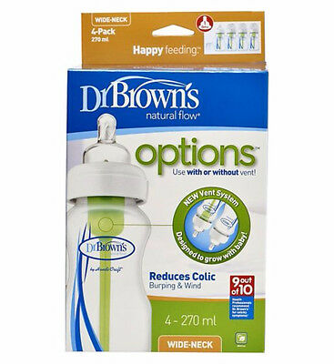 Dr Brown's Options Wide Neck 270ml Bottle - Four Pack