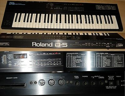 Roland D-5 Multi Timbral Linear Synthesizer vintage, sintetizzatore.