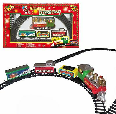 Christmas Express 9 Piece Train Set with Track - Battery Operated - DAMAGED BOX