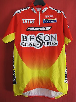 Maillot Cycliste Besson Chaussures SUNN Time vintage tour de France 2000 - 4 / M