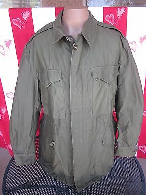 Korean War OD M-51 Field Jacket w Wool Frieze Pile Liner, LARGE REGULAR, M-1951