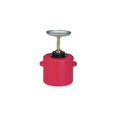 EAGLE Plunger Can,1 Gal.,Polyethylene,Red, P-714