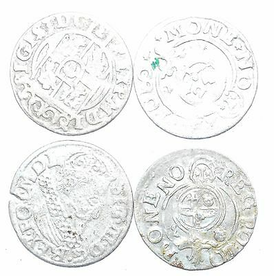 Lot Of 4 Medieval Silver Hammered Coins - Ancient Artifact Lovely - H438