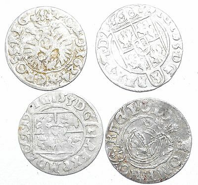 Lot Of 4 Medieval Silver Hammered Coins - Ancient Artifact Superb         - H439