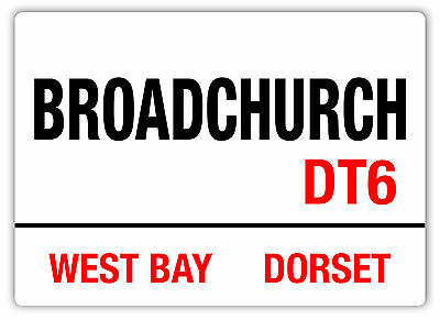 Broadchurch Sign -Metal Wall Sign Plaque- Dorset Drama Murder Mystery Tennant