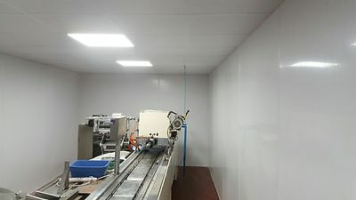 2m x 1m solid PVC hygienic wall cladding sheet in white 1.5mm