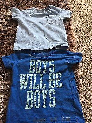 Next boys T-shirts 9-12 months