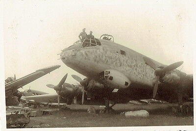 WW2 Original Photograph GI's from the 3rd Armored Division with German Plane