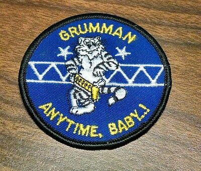 COLD WAR Vintage US NAVY USN GRUMMAN F-14 TOMCAT FIGHTER ANYTIME BABY PATCH