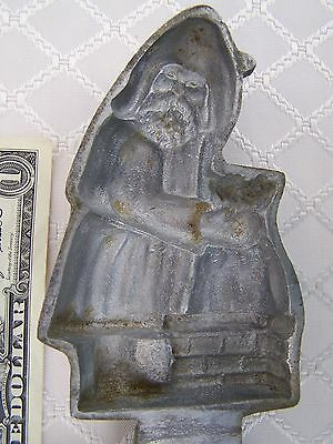 Antique Santa Claus Belsnickle Christmas Hinged Ice Cream - Chocolate mold WOKCO