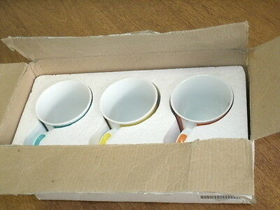 PURELY POMERIAN MUGS BY THE DANBURY MINT-SET OF THREE w/ORIG. BOX-NEW OLD STOCK