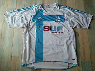 Maillot FOOT ADIDAS OM OLYMPIQUE DE MARSEILLE NEUF TELECOM TAILLE/L/D6 TBE