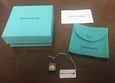 Authentic Tiffany & Co. 925 Sterling Silver Shopping Bag Charm w/ Box & Tag. NR!