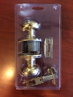 Set Of 6 Solid Brass Door Knobs With Door Plates And Hardware - Free Shipping