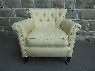 Antique English Upholstered Armchair