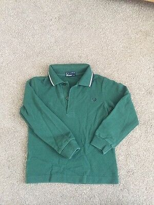 Boys Fred Perry Long Sleeve Polo Top Age 4/5 Years