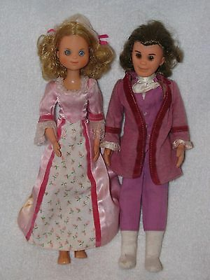 Mattel Sunshine Family Father & Mother Dolls 1973