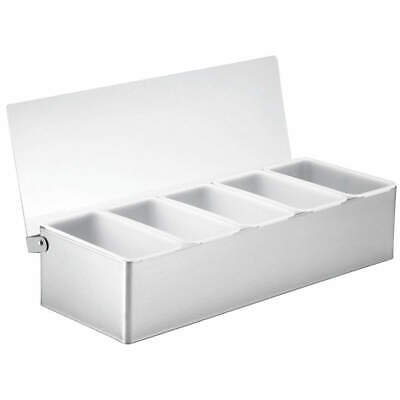 TABLECRAFT PRODUCTS COMPANY Condiment Holder,5 Compartment, 1605