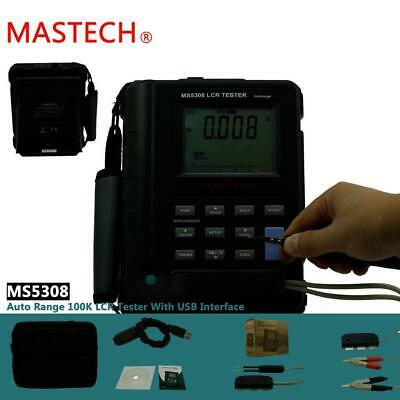Portable MS5308 Digital LCR Meter up to 2000H 2.0mF 200.0MΩ LCD Display