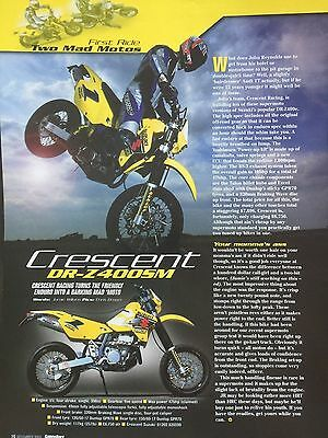 Suzuki Dr-Z400Sm - Original 1 Page Colour 2002 First Ride Motorcycle Article