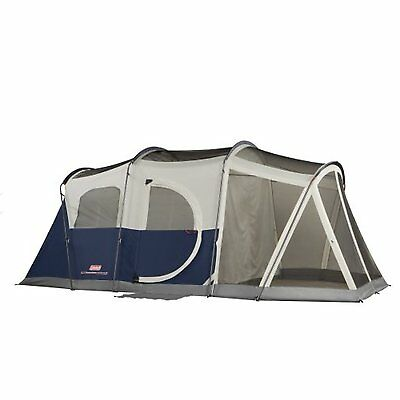 Coleman Elite WeatherMaster Tent  17'x9' 6 Person Cabin Tent with LED Light