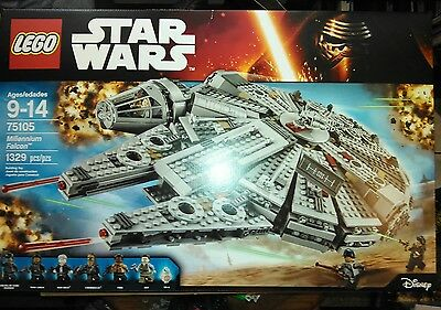 NEW LEGO Star Wars Millennium Falcon 75105 FACTORY SEALED FAST SHIPPING