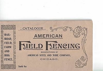 1898 AMERICAN FIELD FENCING Catalog American Steel & Wire Company Excellent