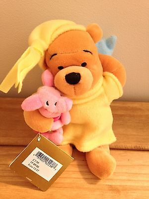 Collectable Winnie The Pooh, Dressed As Sleeping Pooh & Piglet