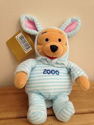 """Collectable Winnie The Pooh Easter Pooh 2000 Blue8"""" Beanie"""