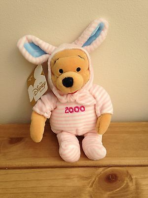 """Collectable Winnie The Pooh Dresses As Easter Pooh 2000 Pink 8"""""""