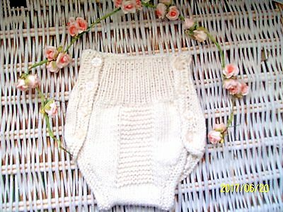 100% pure cotton hand knitted soaker nappy diaper cover