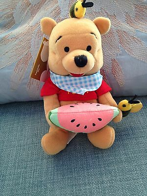 """Collectable Winnie The Pooh 8"""" Beanie Dressed As Summer Fun Pooh"""