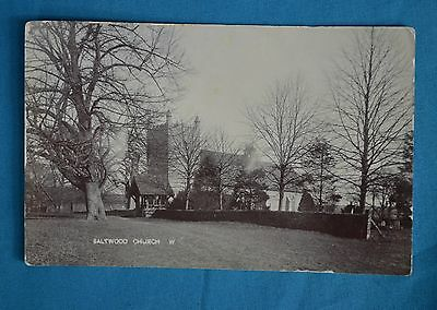 1900s RP Postcard Real Photo Saltwood Church West Hythe Kent Postally Used