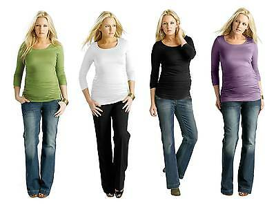 BNWT Ruched Top Size 08 - 18 Black, Green & Lilac