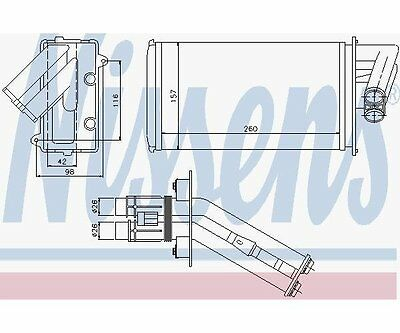 Nissens 73368 Heat Exchanger, Interior Heating