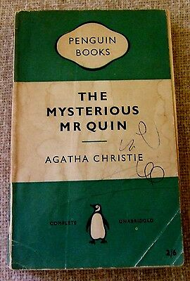 Vintage Agatha Christie The Mysterious Mr Quin Penguin 1956