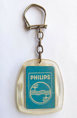 Philips Israeli Store Hebrew Advertising Vintage Plastic Keychain Keyring Holder