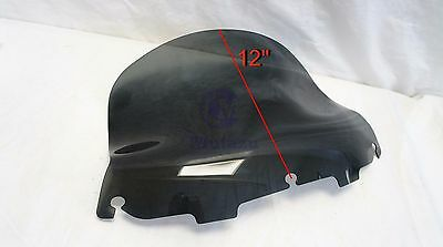 "12"" Mutazu Dark Tinted Aero Flared Windshield for Harley Electra Street Glide"
