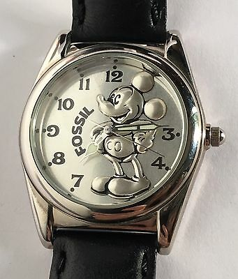 Disney Fossil Mickey Mouse LE 713/15000 Silver Dial Character Watch L1-1563 RARE