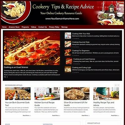 Established COOKING & RECIPES Turnkey MOBILE FRIENDLY Website For Sale