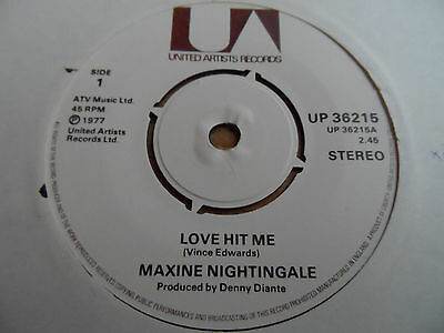 "Maxine Nightingale Love Hit Me 7"" Single United 1977 Ex Condition.."