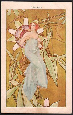 Mary Roberty. Art Nouveau. 4 cartes vers 1904